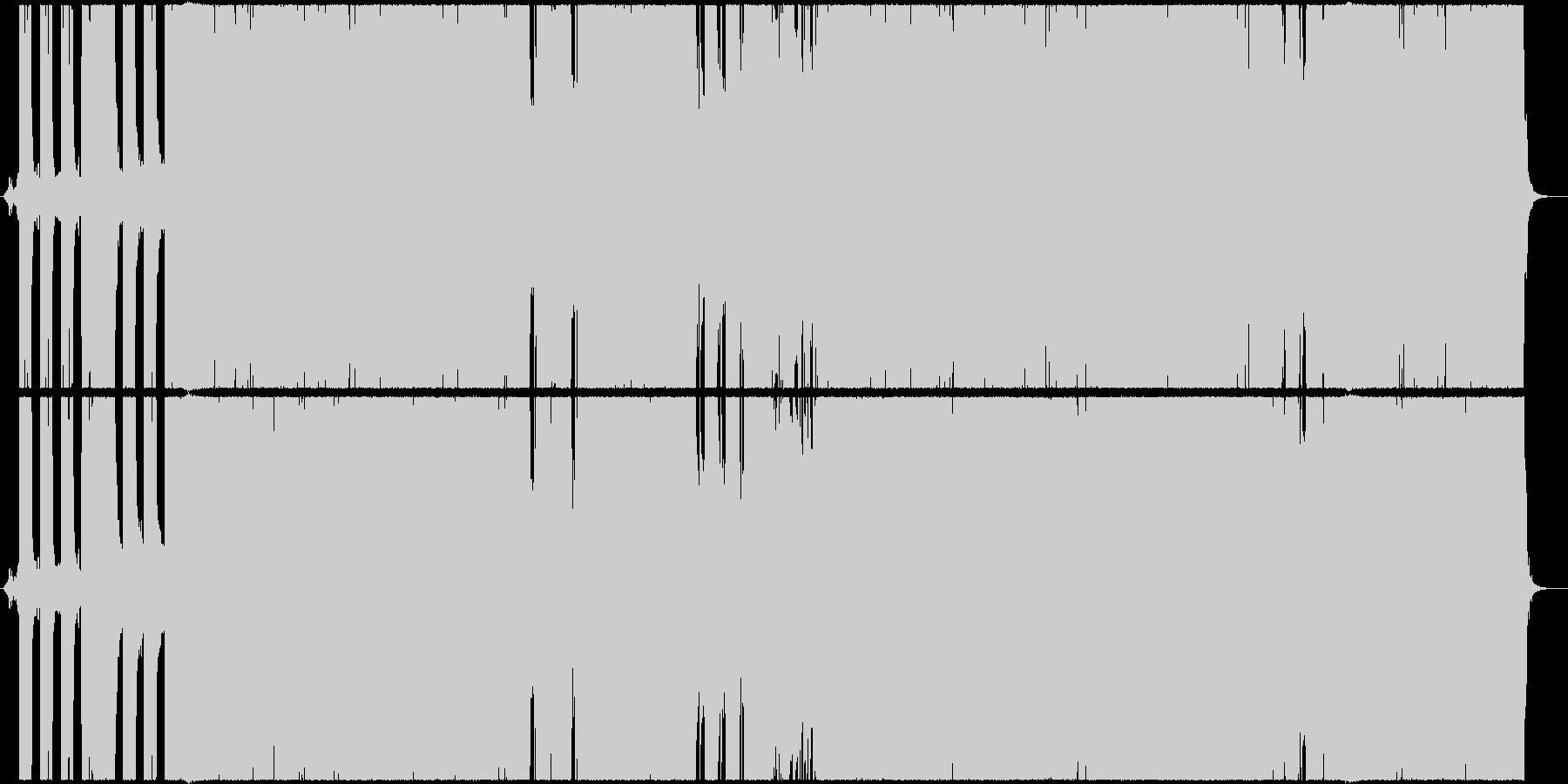 ダークで重々しいヘビーメタル風の未再生の波形