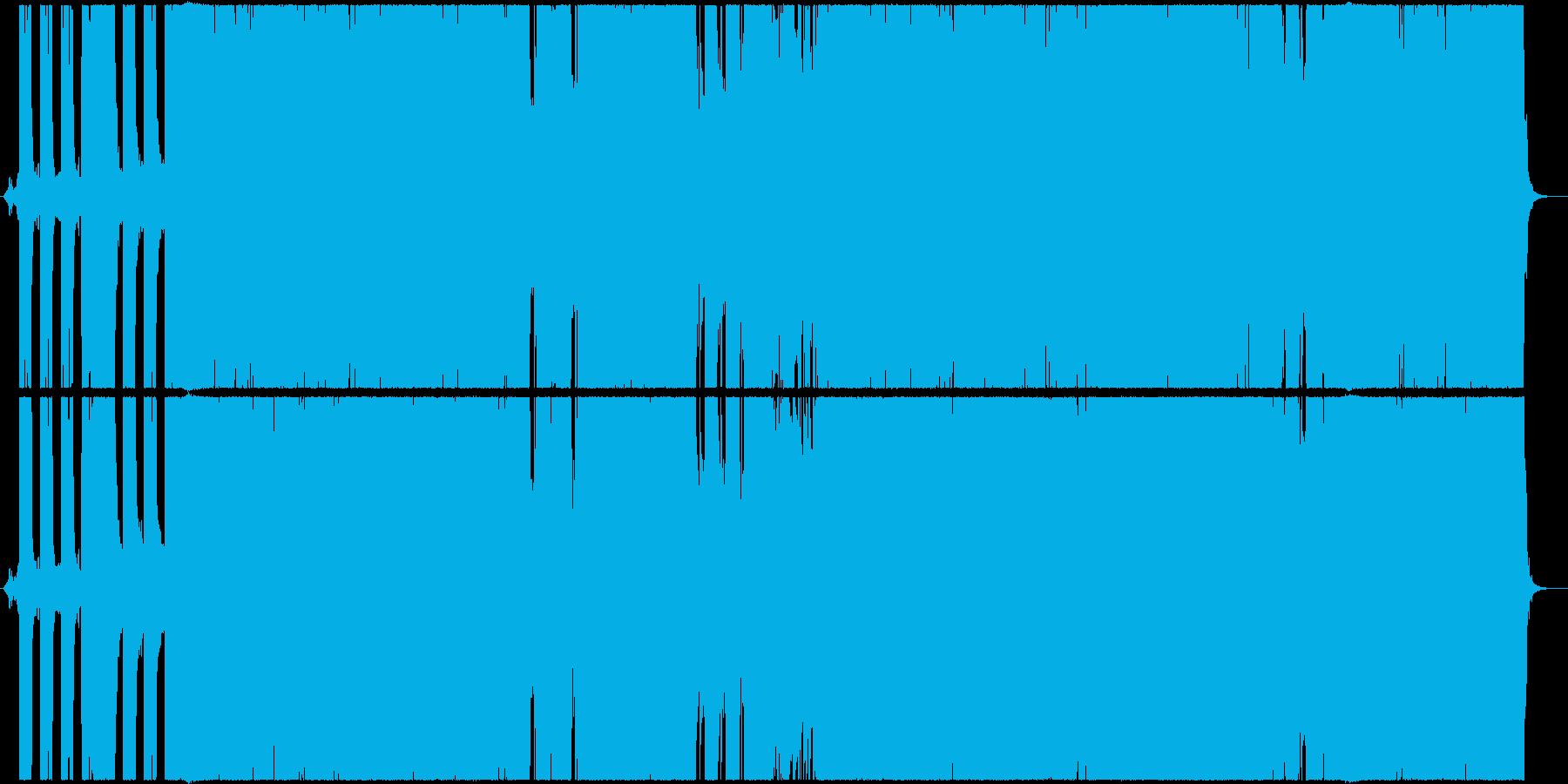 ダークで重々しいヘビーメタル風の再生済みの波形