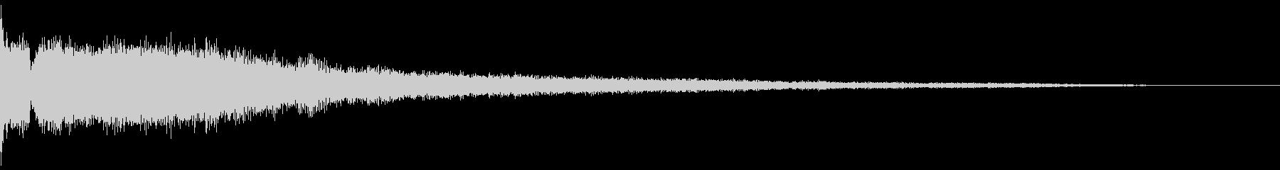 ピッ:デジタル起動音(低音)の未再生の波形