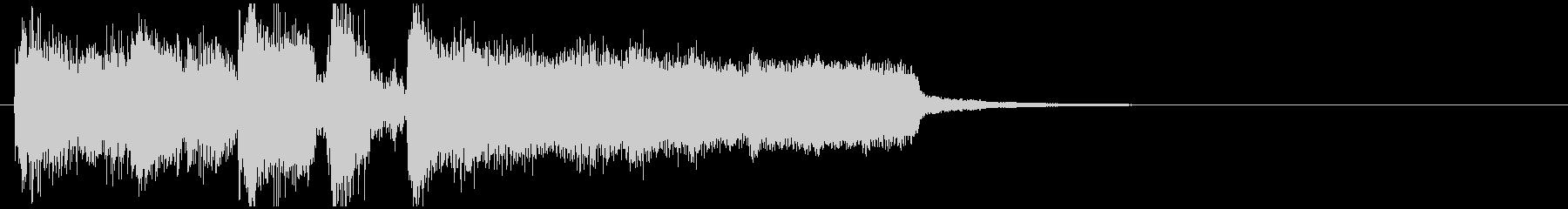 派手なオープニング系ジャズのサウンドロゴの未再生の波形