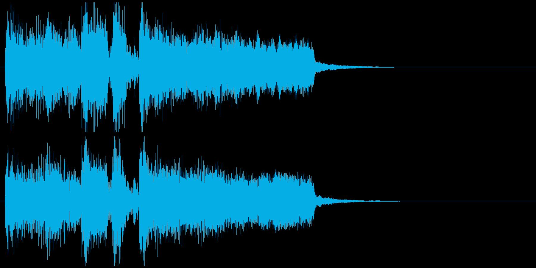 派手なオープニング系ジャズのサウンドロゴの再生済みの波形