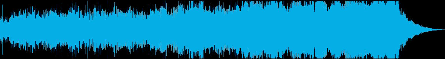 どす黒い感情が沸き起こるような電子音楽の再生済みの波形