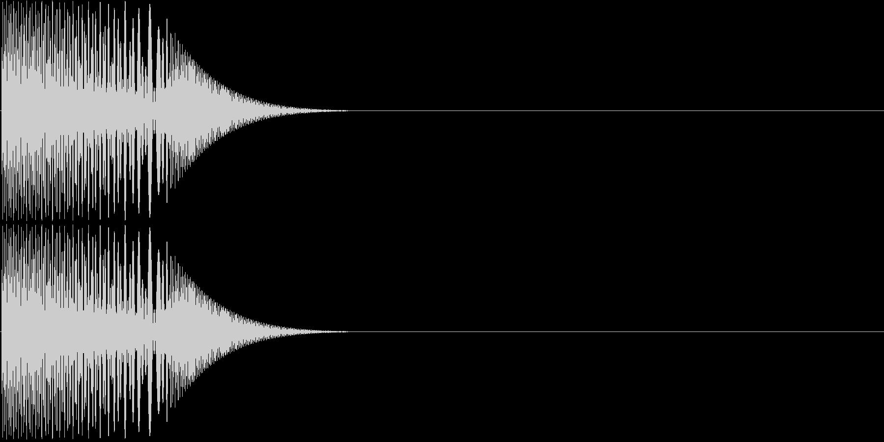 プニッと指先でつつく01の未再生の波形
