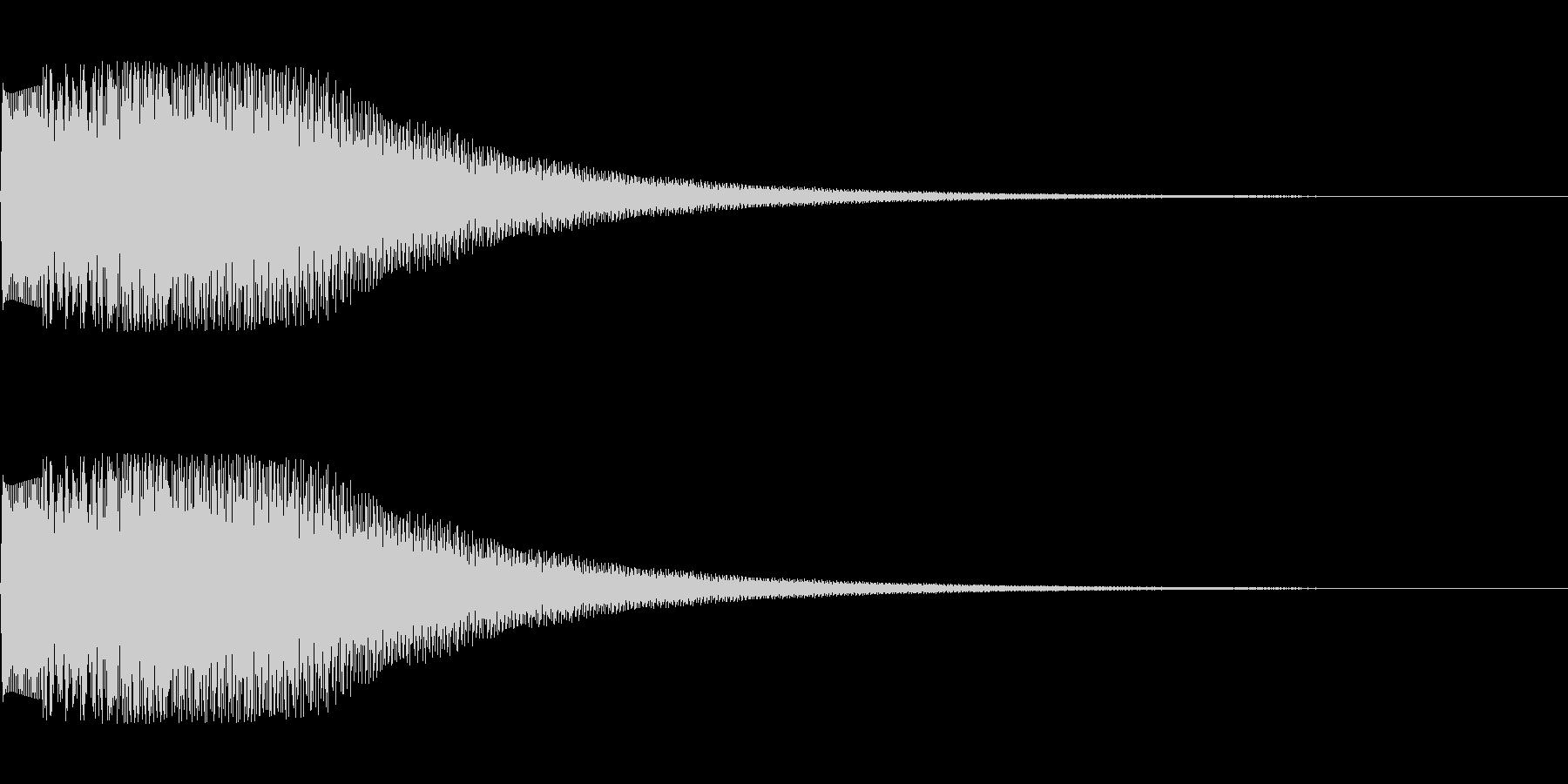 シンセサイザー シーン切り替え2の未再生の波形