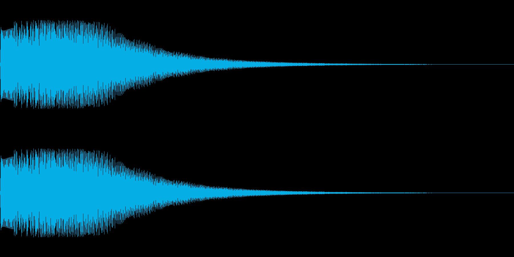 シンセサイザー シーン切り替え2の再生済みの波形