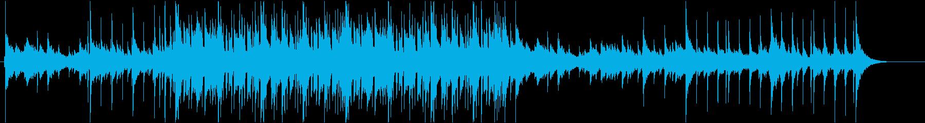 ピアノ主体のジャズの再生済みの波形