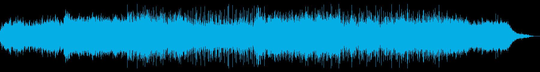 荘厳なアンビエントテクスチャの再生済みの波形