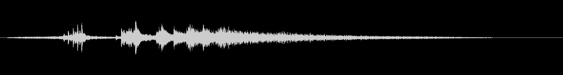 グランドピアノ、ロングテンションア...の未再生の波形