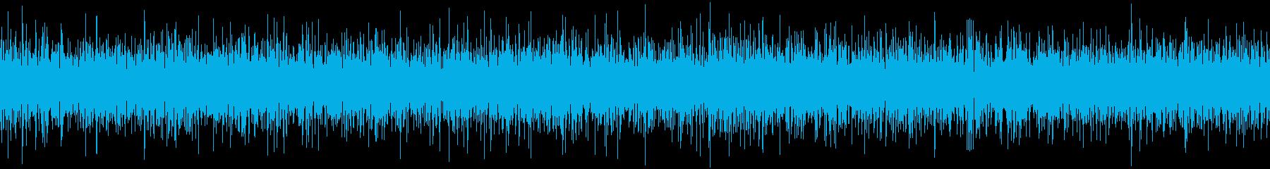 ザァー(AMラジオのノイズB)ループ処理の再生済みの波形