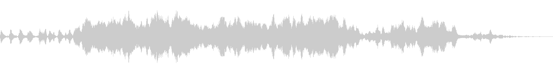 電子音と弦楽器が特徴の幻想的な楽曲の未再生の波形
