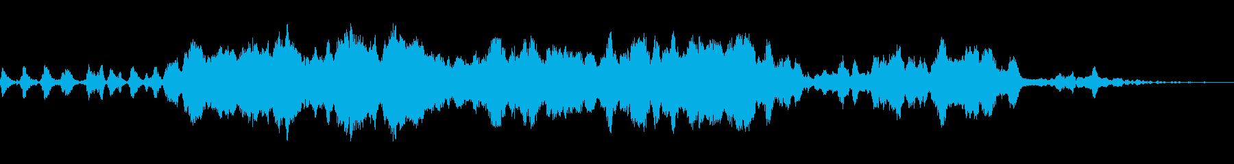 電子音と弦楽器が特徴の幻想的な楽曲の再生済みの波形