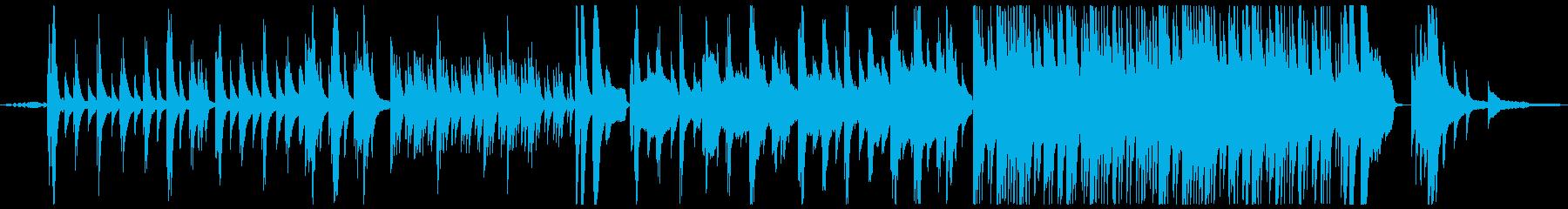 【蝉声付き】綺麗でノスタルジックなピアノの再生済みの波形