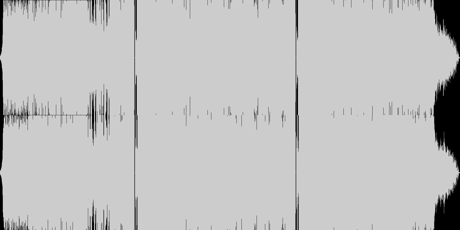 90年代風のレトロ★シンセポップの未再生の波形