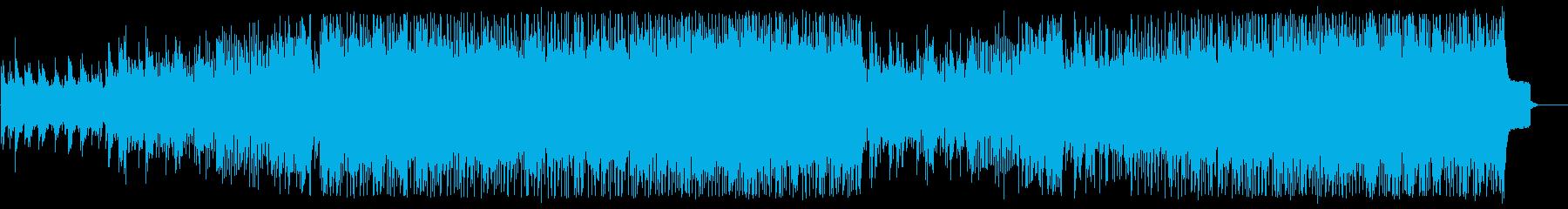 明るいビートの綺麗なテクノポップの曲の再生済みの波形