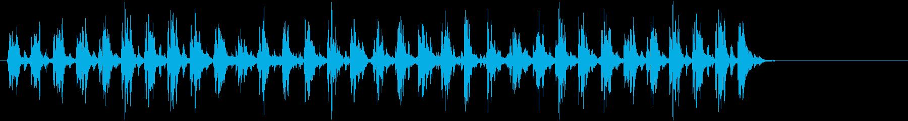 Xmasに最適トナカイベルのループ音05の再生済みの波形