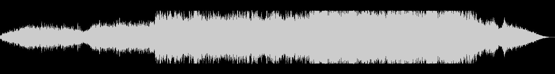 スケールの大きい時代劇的BGMの未再生の波形