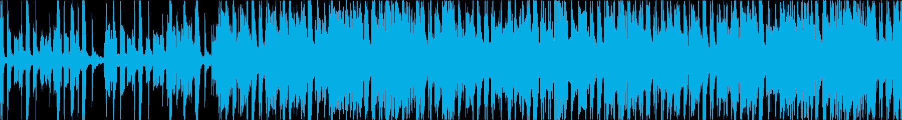 軽快なアコーディオンのカフェミュージックの再生済みの波形