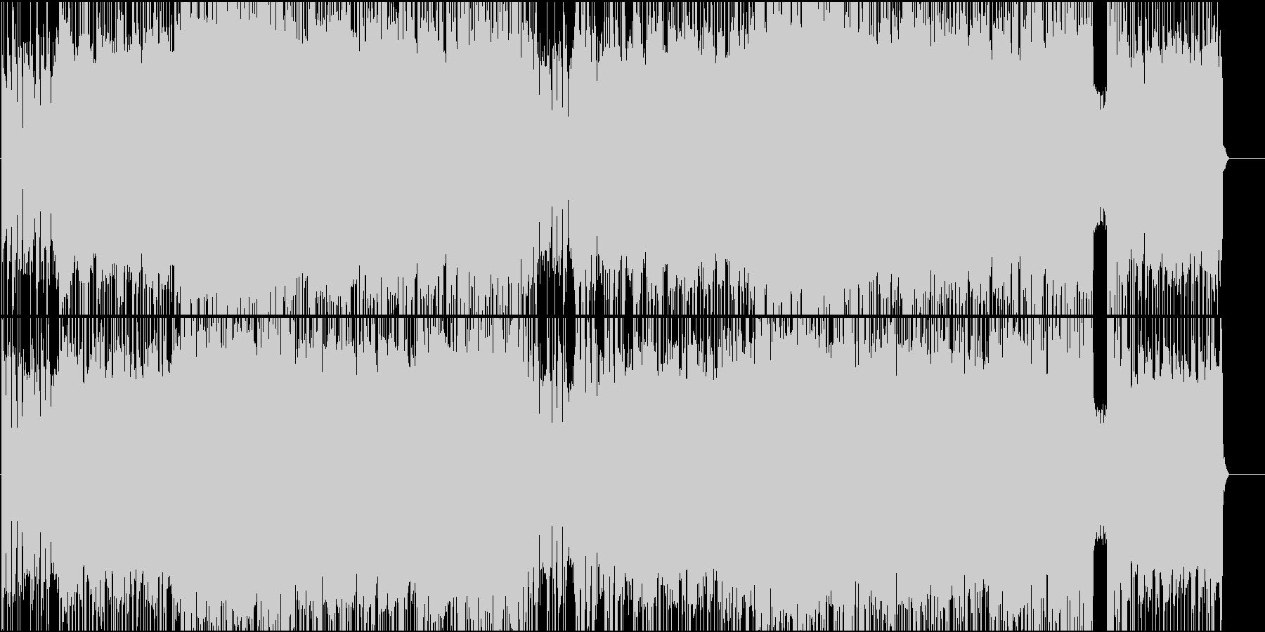 緊迫感のある戦闘BGM(ROCK)の未再生の波形