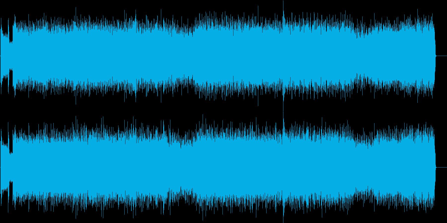 ドラマティックなマイナーハードロックの再生済みの波形