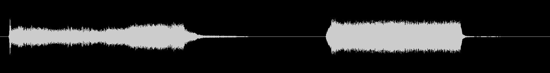 釣り船-通過-停止-ボートの未再生の波形