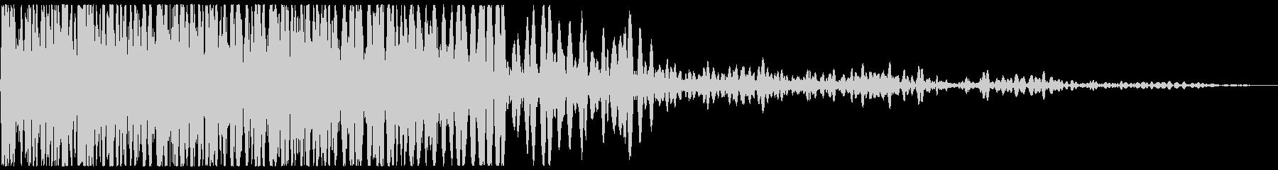 ドカーン(爆発音と煙)の未再生の波形