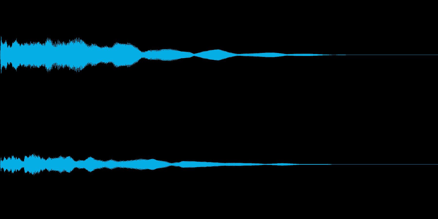 優しくさわやかなギターサウンドロゴの再生済みの波形