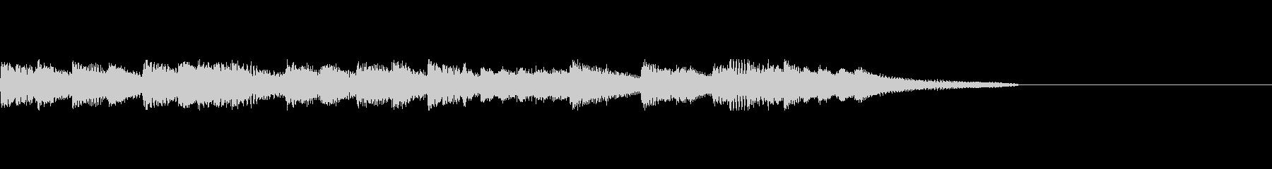 ピアノジングル3、明るいラジオ風の未再生の波形