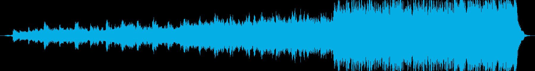 エピックドラマチックな予告編音楽の再生済みの波形