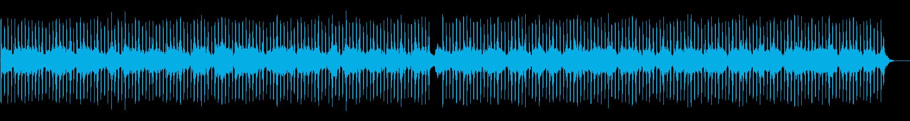 カリンバのアンビエントEDMの再生済みの波形