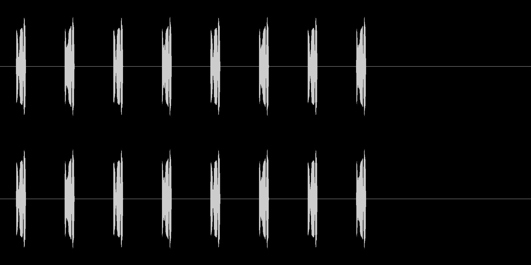 コミカルな足音 B-2-3の未再生の波形