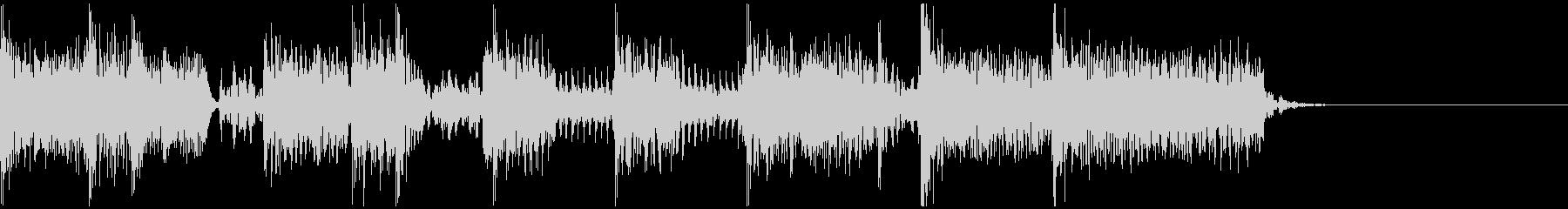 ロックンロールギタージングルの未再生の波形