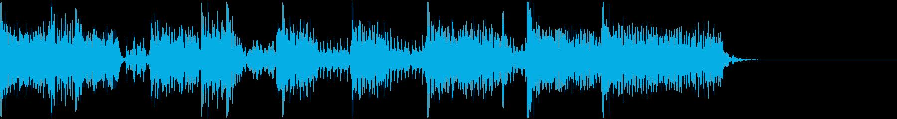 ロックンロールギタージングルの再生済みの波形