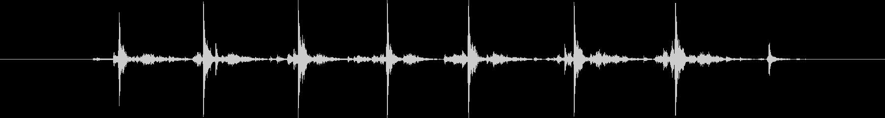 タイプライター7連打の未再生の波形