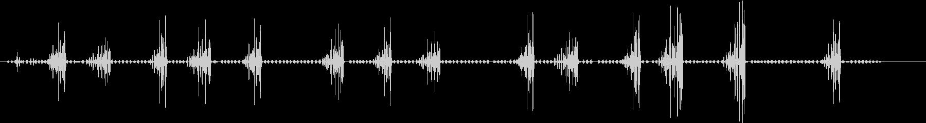 ビレオ、ベルのチャープ。バックグラ...の未再生の波形