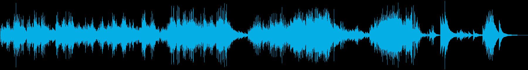 切なく感動的なピアノバラードの再生済みの波形