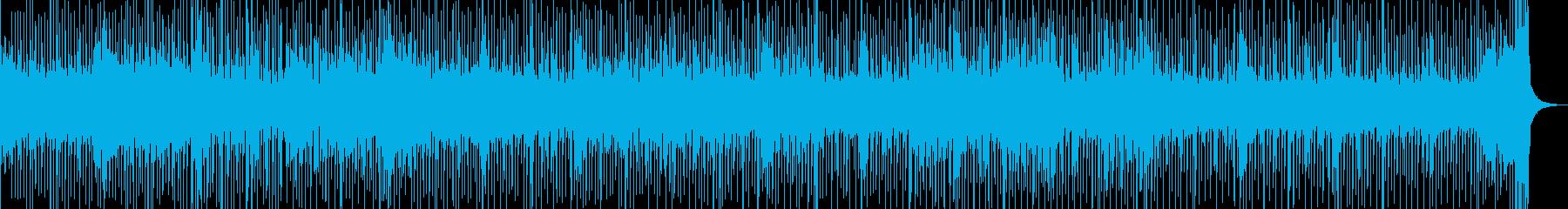 三味線とドラムのスピード感あるセッションの再生済みの波形