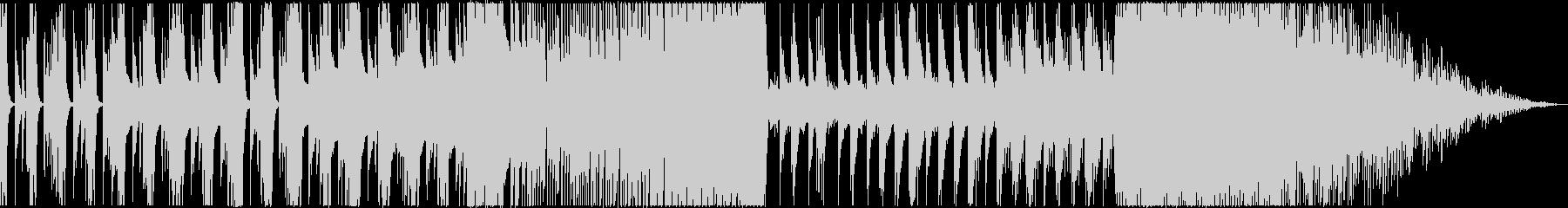 ピアノやシンセによる緊迫した雰囲気の楽曲の未再生の波形