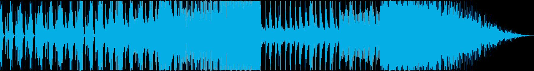 ピアノやシンセによる緊迫した雰囲気の楽曲の再生済みの波形