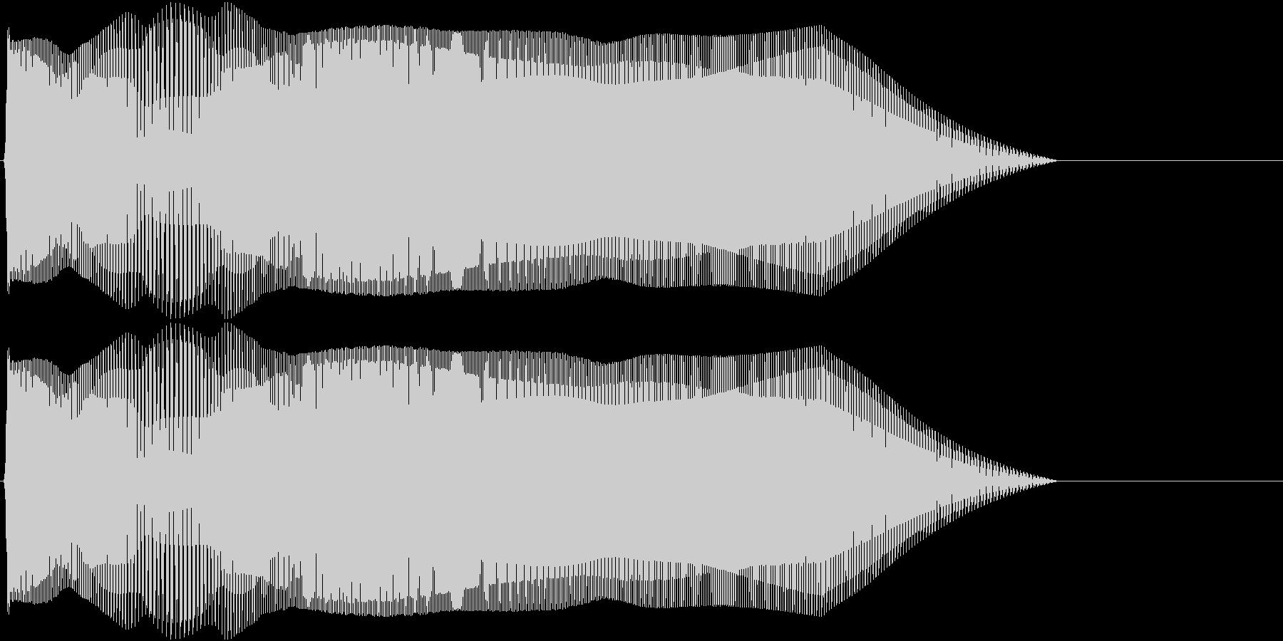 Game キャラ攻撃音 ザコキャラ退治1の未再生の波形