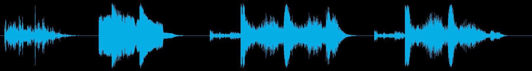 漫画-サンダー-4バージョンの再生済みの波形
