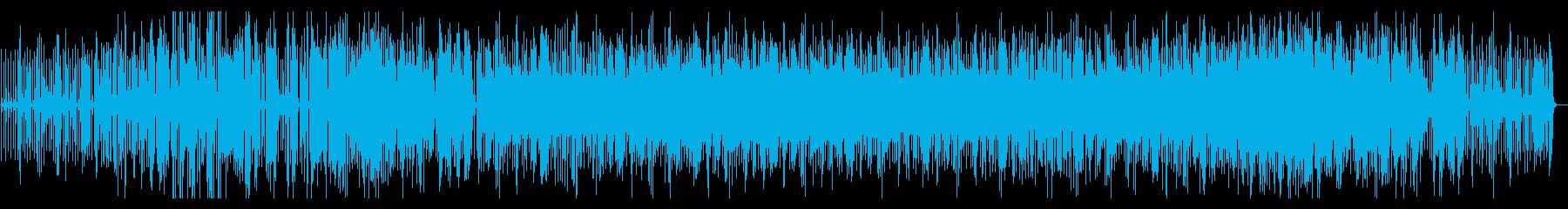 ミドルテンポのエレキギターメイン楽曲ですの再生済みの波形