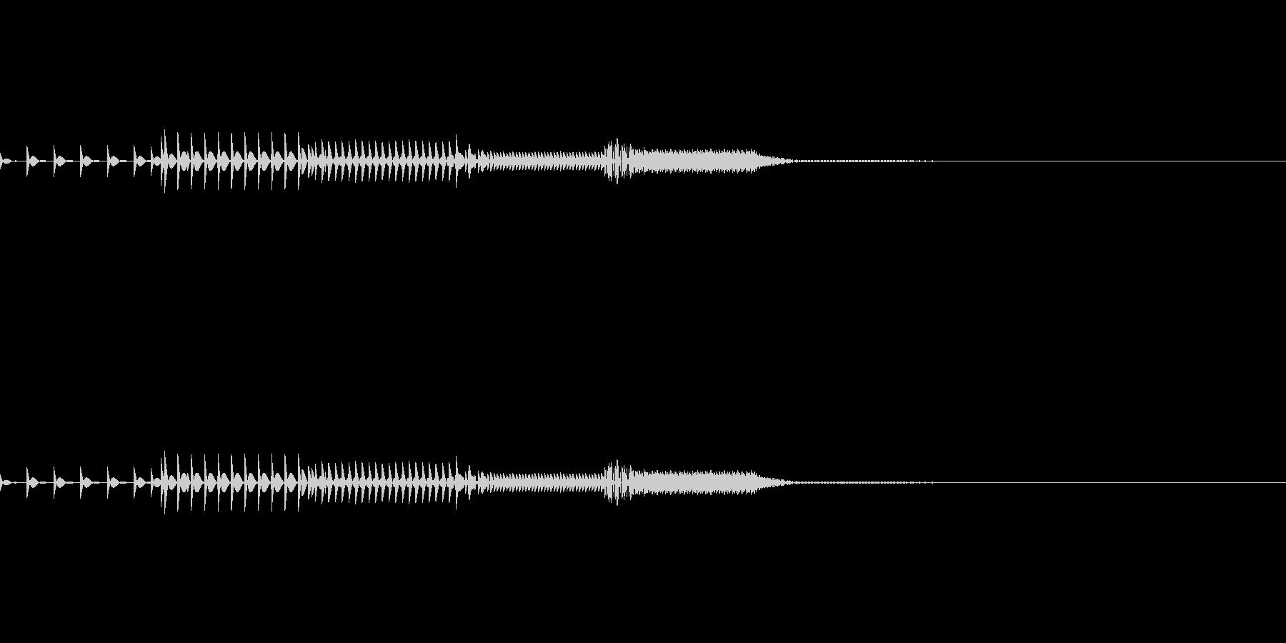 ピコッ(システム音)の未再生の波形