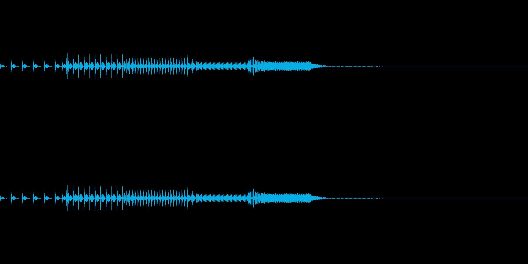 ピコッ(システム音)の再生済みの波形