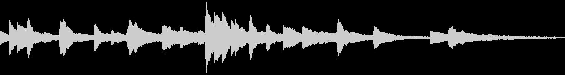 15秒の平和な和風ジングル17-ピアノの未再生の波形