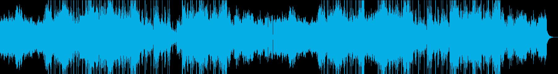 重厚な雰囲気のシンセアイザーが特徴な曲の再生済みの波形