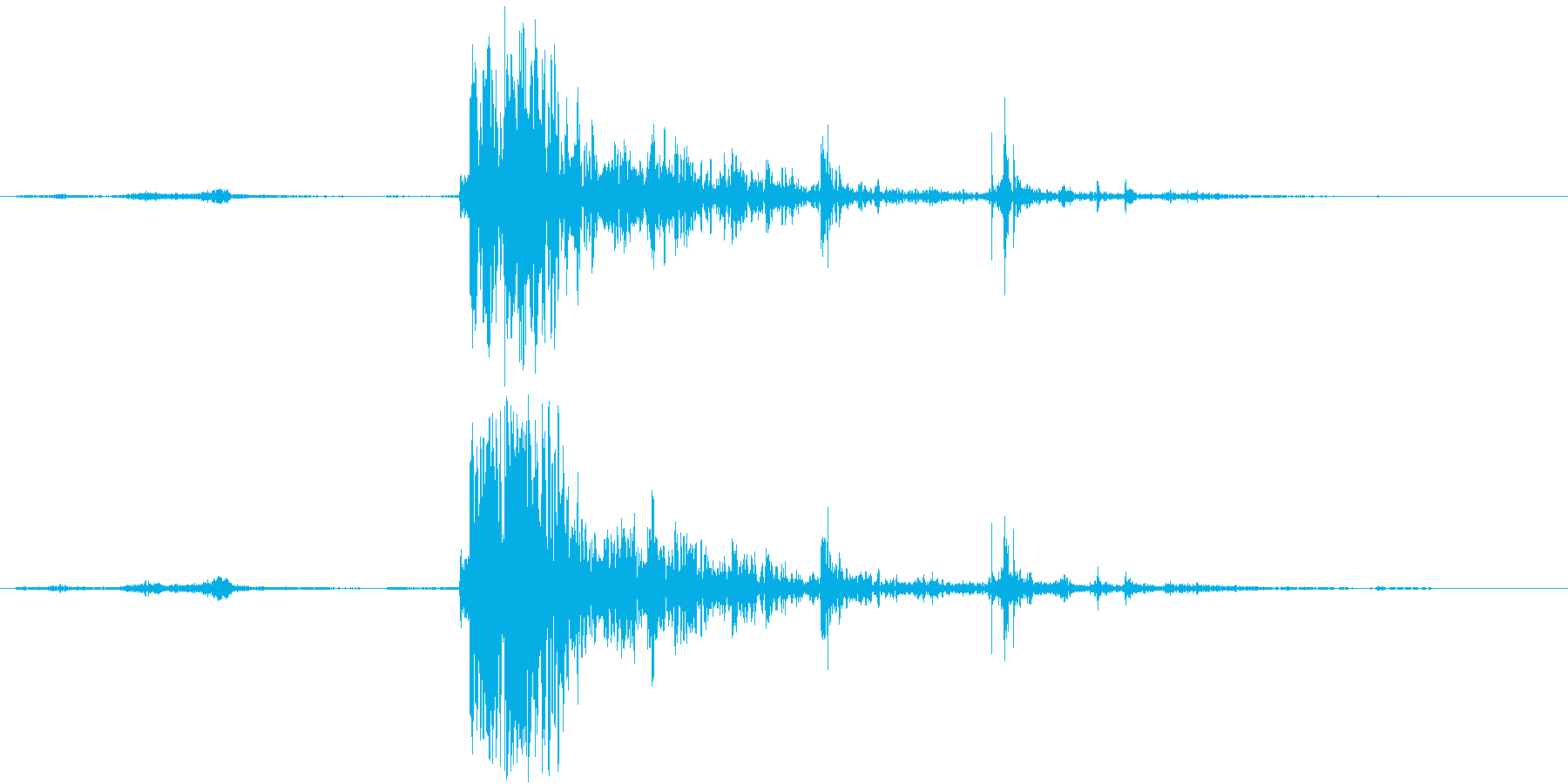 【生録音】激しく突き飛ばす 蹴る 衝突の再生済みの波形