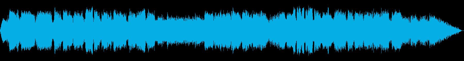 静かな笛のヒーリングミュージックの再生済みの波形