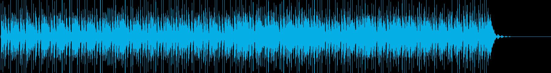 ピアノロック、おしゃれなブルースBGMの再生済みの波形