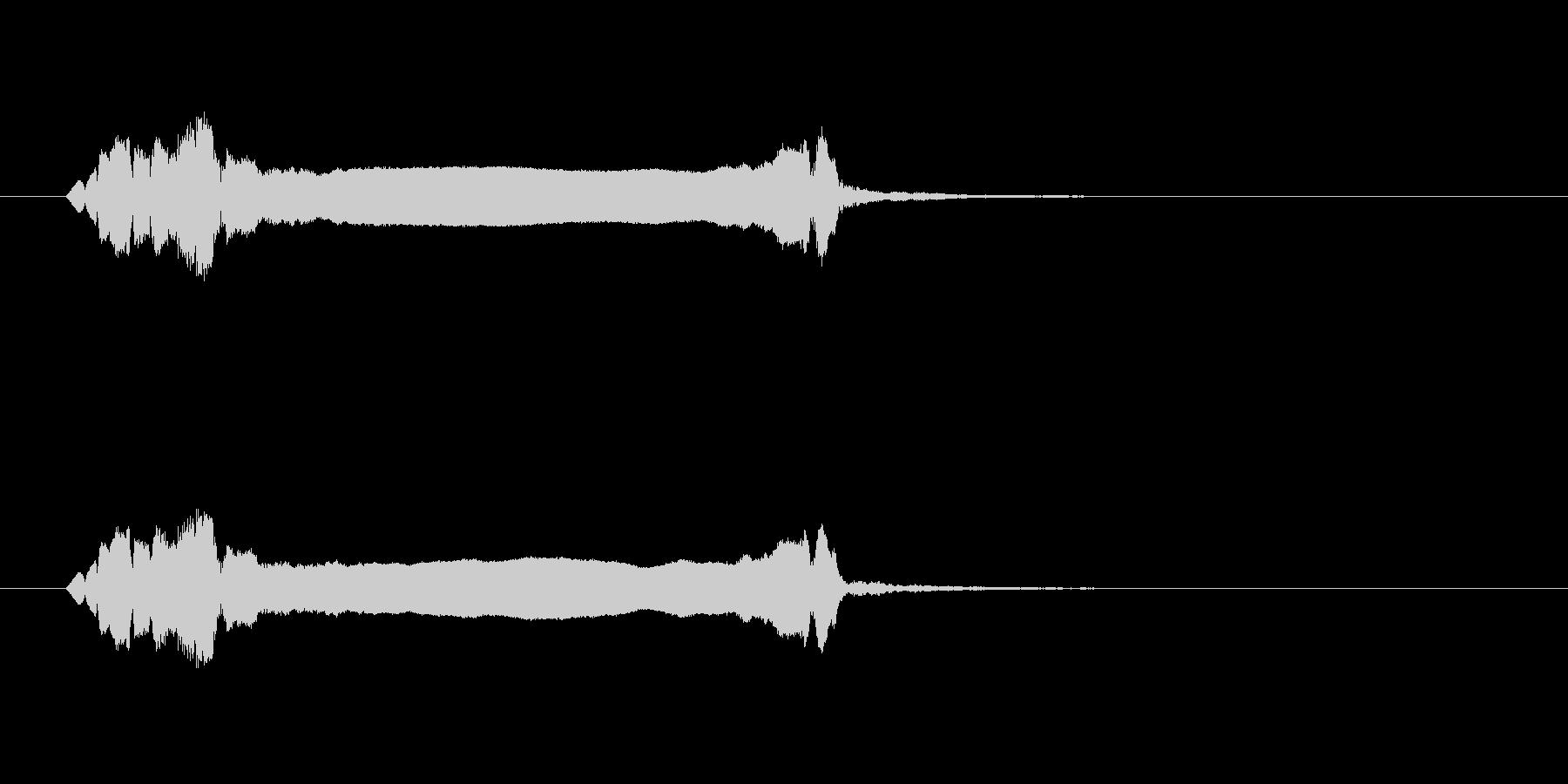 篠笛生演奏の勢いあるジングル03の未再生の波形