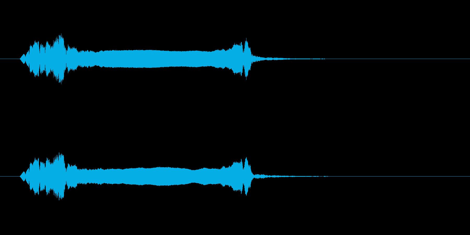 篠笛生演奏の勢いあるジングル03の再生済みの波形